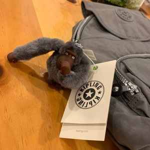 Brand New Kipling Small Backpack in Dusty Grey